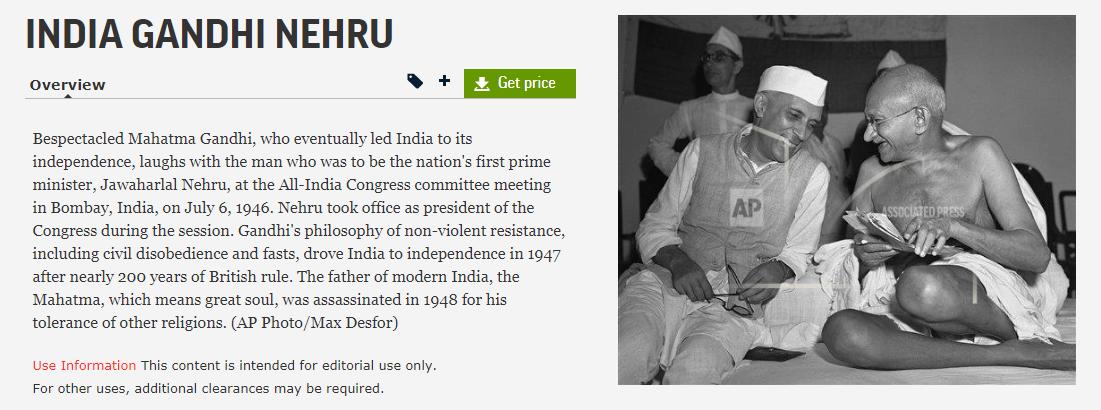महात्मा गांधी को एक महिला के साथ दिखाता फर्जी फोटो सोशल मीडिया पर वायरल 2