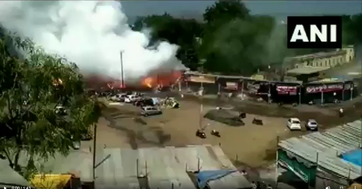 ANI ने महाराष्ट्र में हुए पटाखों के विस्फोट का पुराना वीडियो तेलंगाना का बताकर किया साझा