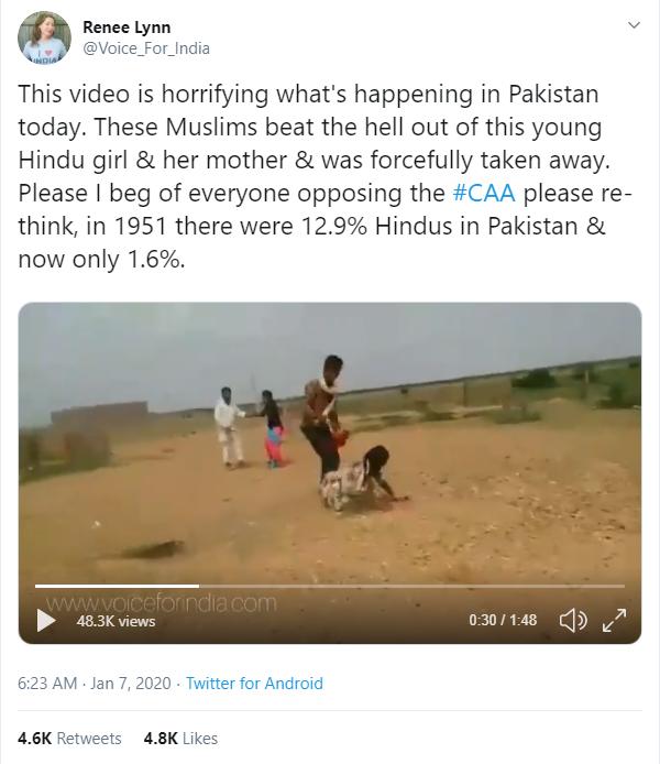 राजस्थान का पुराना वीडियो, पाकिस्तान में हिंदू महिलाओं पर अत्याचार के झूठे दावे से वायरल 1