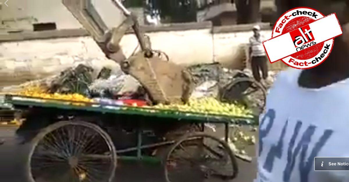 ट्रंप की गुजरात यात्रा – अहमदाबाद में गरीबों पर अत्याचार का वीडियो असल में ओडिशा के अतिक्रमण का