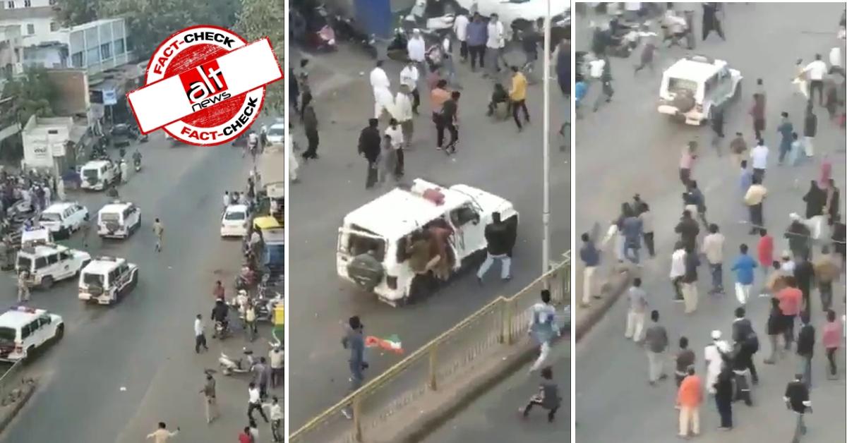 पिछले साल अहमदाबाद पुलिस पर पथराव की घटना दिल्ली में हो रही हिंसा के नाम पर वायरल