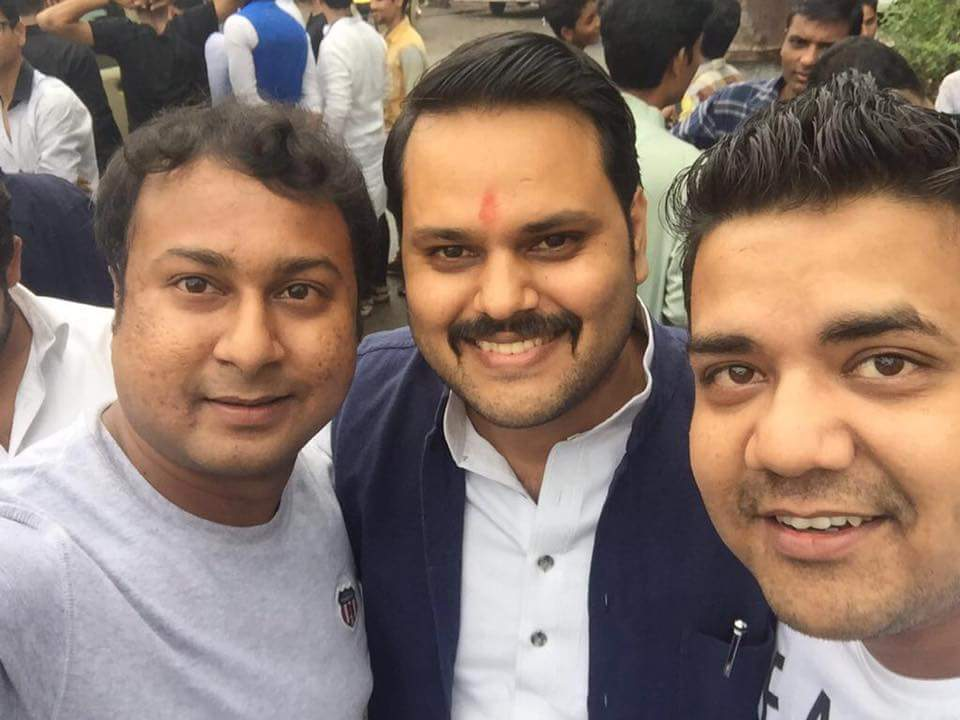 Mohit Agrawal on the left, Anshul Tiwari in the centre and Dhruv Saxena on the right