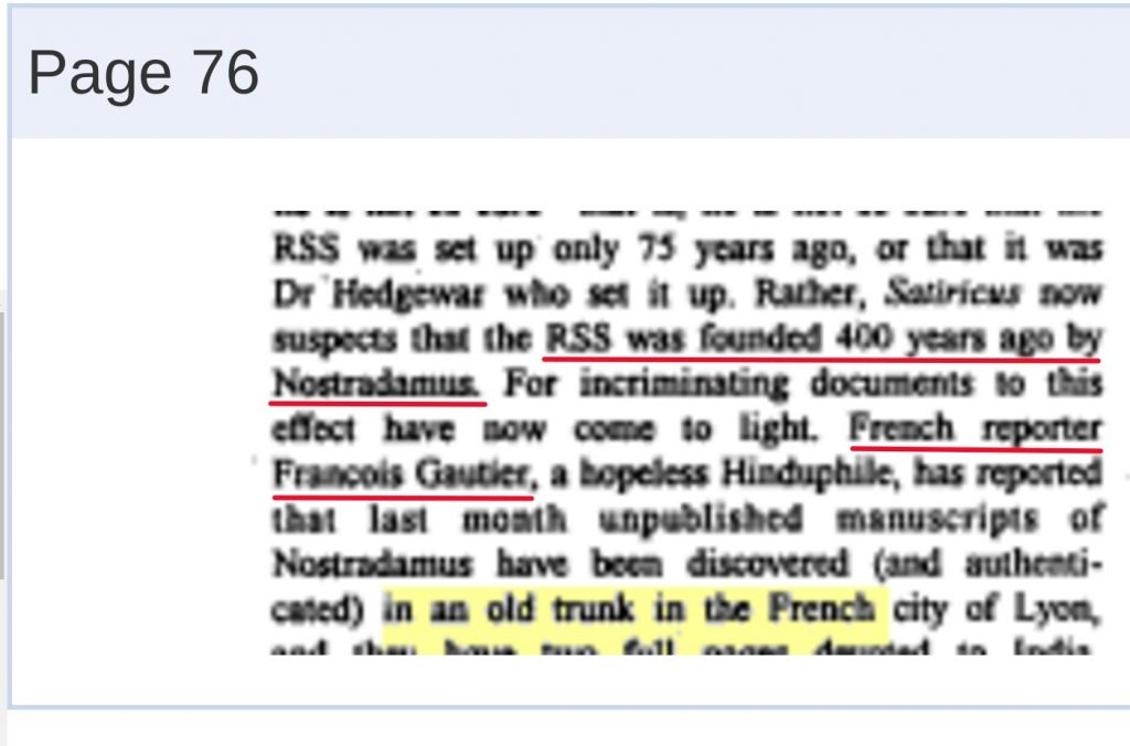 rss was founded 400 years ago by Nostradamus, unpublished manuscripts in an old trunk in the french city of lyon