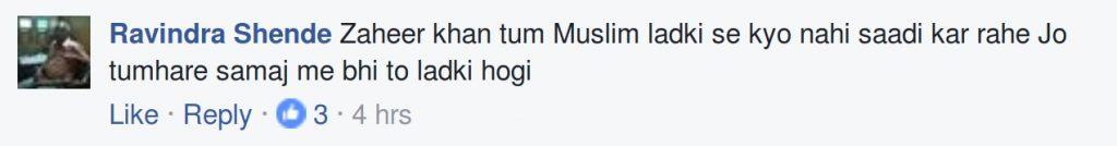 Zaheer Khan tum Muslim ladki se kyo nahin shaadi kar rahe jo tumhare smaj mein bhi to ladki hogi