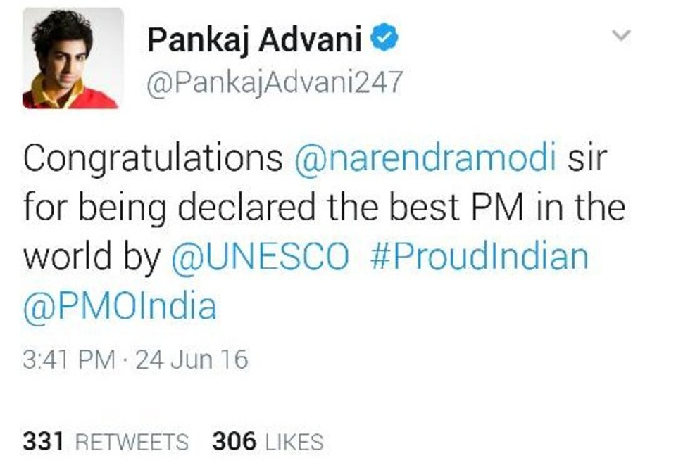 pankaj-advani-unesco-best-pm