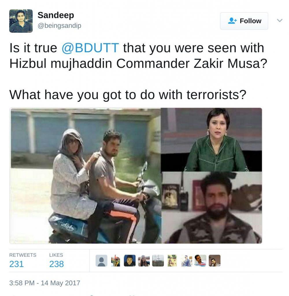 Sandeep's tweet Barkha Dutt