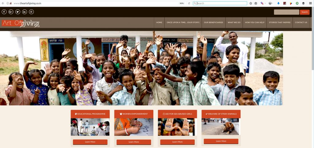 art of giving website