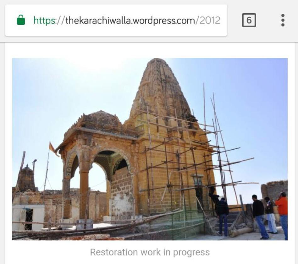 Varun Dev Temple under restoration