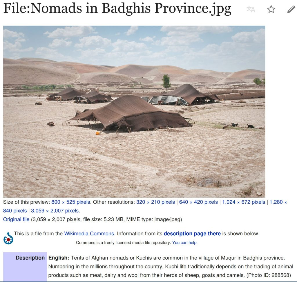 Nomads in Badghis Province
