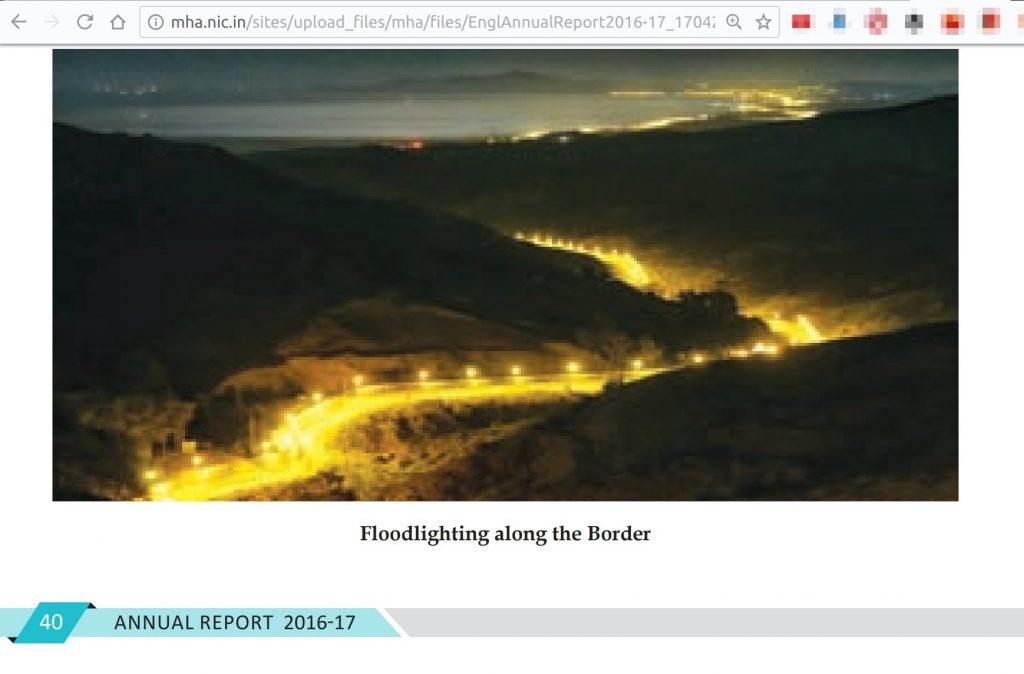 Spanish Morocco border picture in Annual Report