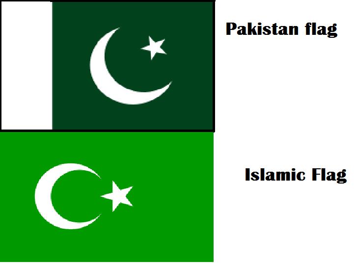 islamic flag vs pakistani flag