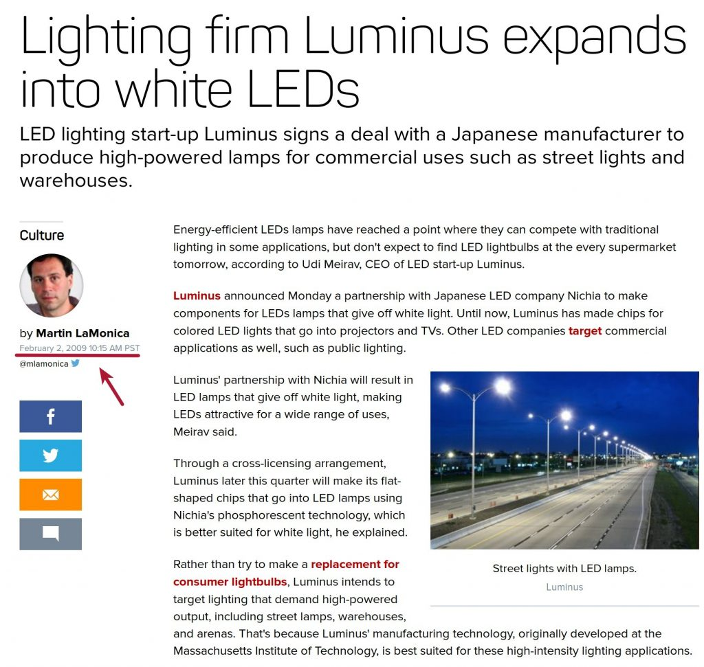 Piyush Goyal tweet lighting firm Luminus