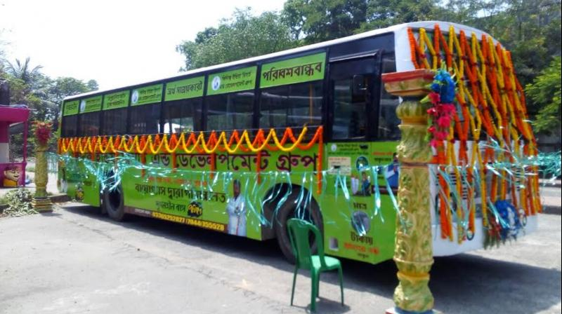 biogas bus kolkata (Courtesy Asian Age)