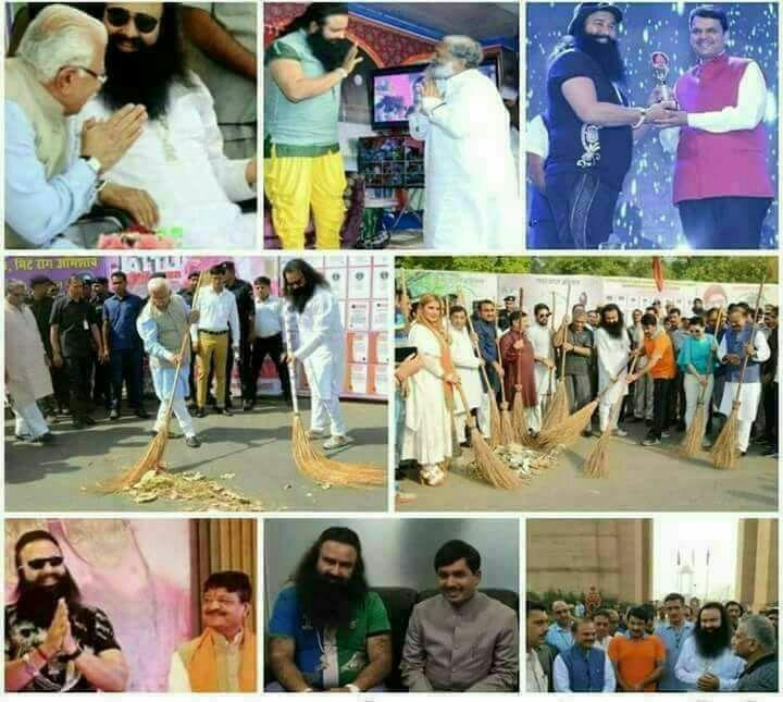 bjp-leaders-with-gurmeet-ram-rahim-singh