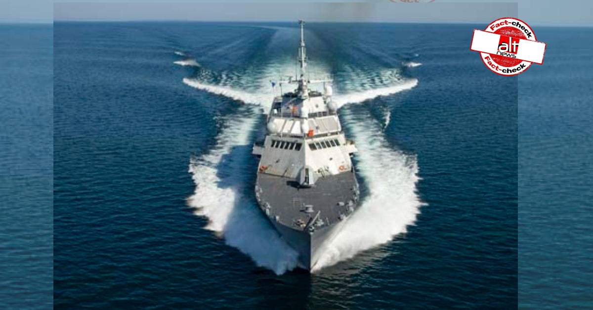 INC & BJP commemorate Indian Navy day by posting images of U.S. Navy combat ship - Alt News