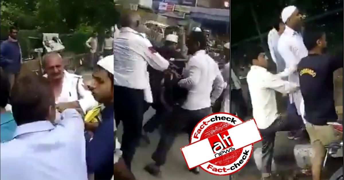 Video from 2015 of traffic cops beaten by a crowd shared with communal narrative - Alt News