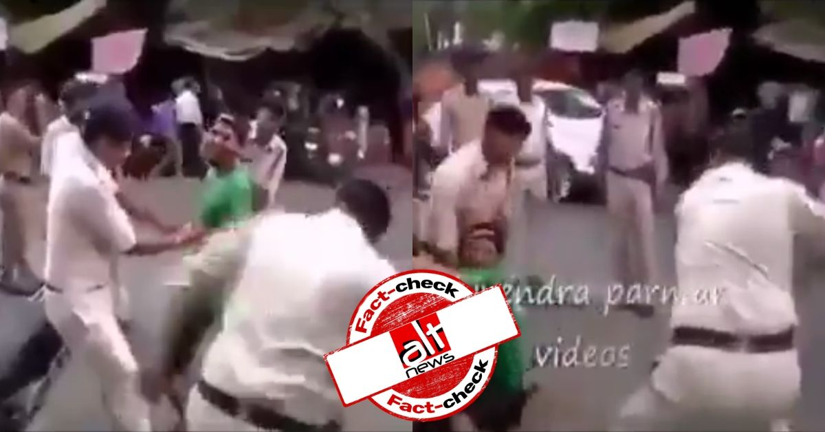 CAA Protests: Old video from MP shared as UP police thrashing stone-pelters - Alt News