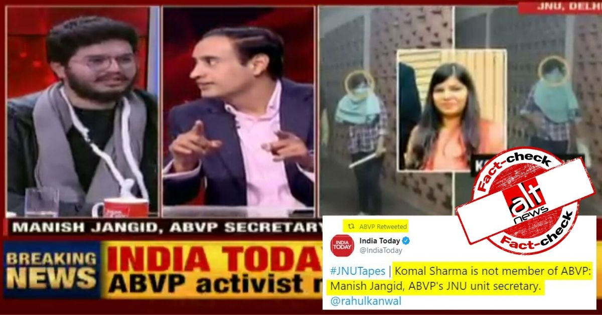 ABVP JNU secretary denies masked woman in viral video associated with ABVP, visual evidence disagrees - Alt News
