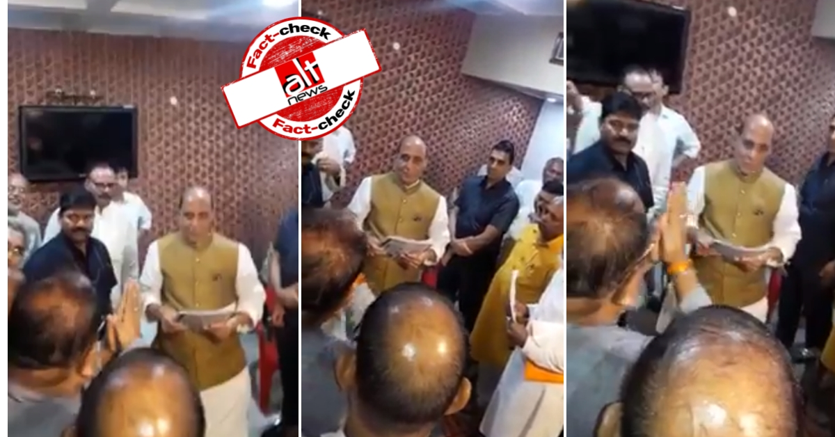 Video from 2018 shared as 88 BJP MPs request Rajnath Singh to roll-back CAA, NRC - Alt News