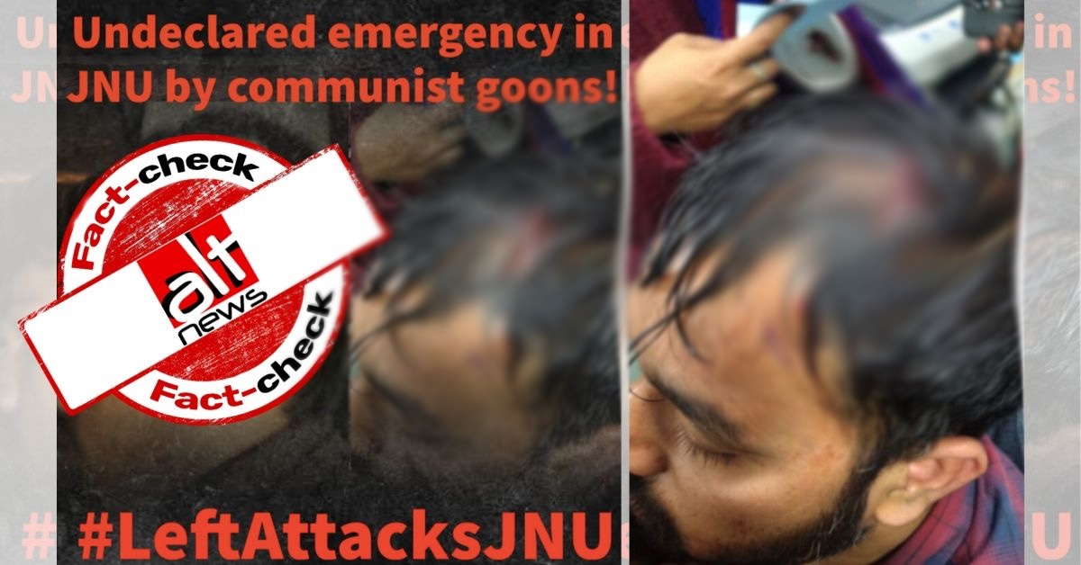 ABVP claims JNU student Kamlesh Mandriya was attacked by Left, Mandriya refutes and blames ABVP - Alt News