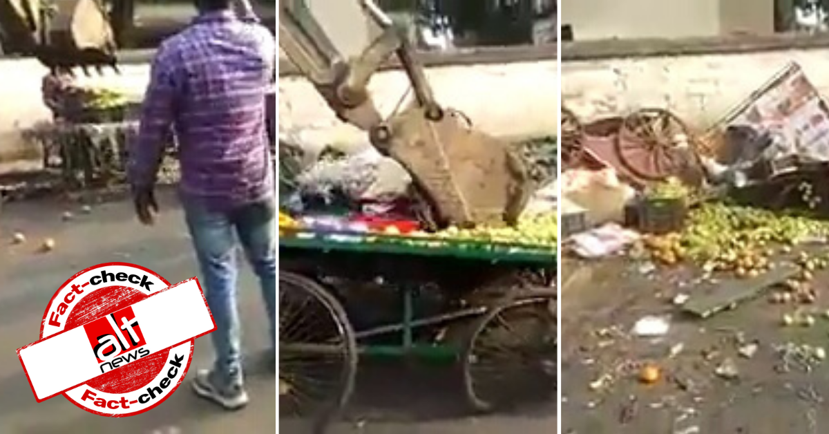 Video of hawker carts demolished in Odisha now shared as Ahmedabad - Alt News