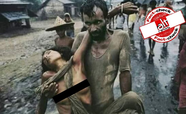 Truth behind photo of man carrying wife during 1971 Bangladesh liberation war - Alt News