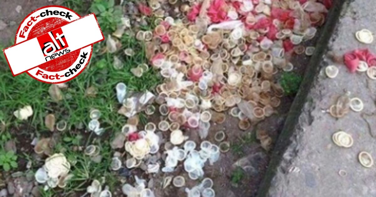 Old, unrelated image viral as condoms found in Shaheen Bagh - Alt News